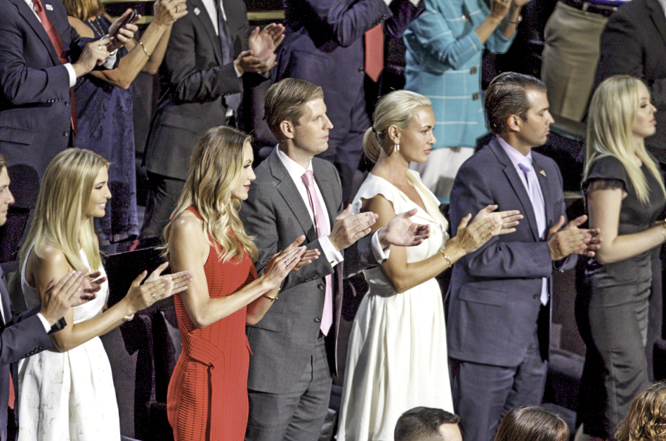 The Republican National Convention got off to a  raw fight, meandering, downbeat, and downright scary event. But the Trump family join the conversation to aid their father. Donald Trump thanks his family for support during his speech at the 2016 RNC in Cleveland.